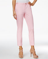 XOXO Juniors' Natalie Cropped Straight-Leg Trousers