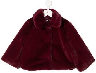 Piccola Ludo Collared Faux Fur Jacket