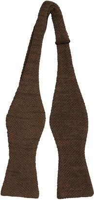 Notch Men's Knitted Self-tie Bow Tie - Brown melange moss knit