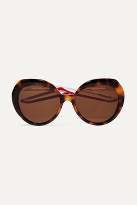 Balenciaga Round-frame Tortoiseshell Acetate Sunglasses