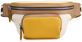 Fendi Men's Canvas & Suede Belt Bag