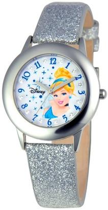 Disney Girl' Diney Prince Cinderella tainle teel Glitz Watch - ilver