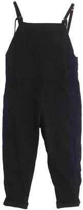 Base Range Black Cotton Jumpsuits