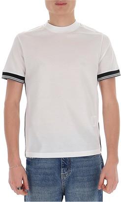 Prada Contrast Stripe Crewneck T-Shirt