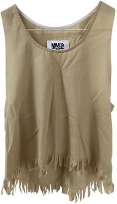 Maison Margiela Yellow Cotton Top for Women