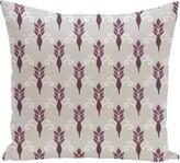 "E By Design Friendship Floral Geometric Print Throw Pillow e by design Size: 16"" H x 16"" W x 1"" D, Color: Azure"