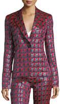 Diane von Furstenberg Metallic-Woven Tailored Jacket