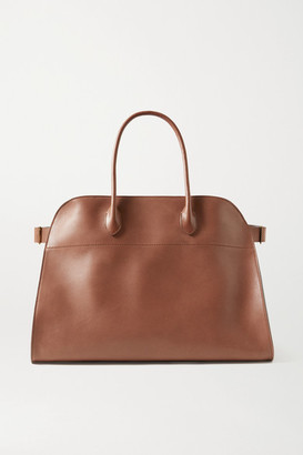 The Row Margaux 17 Air Large Buckled Leather Tote - Brown