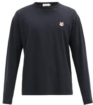 MAISON KITSUNÉ Fox Head-patch Cotton-jersey T-shirt - Black