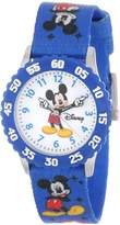 Disney Kids' W000232 Mickey Mouse Stainless Steel Time Teacher Watch with Moving Hands