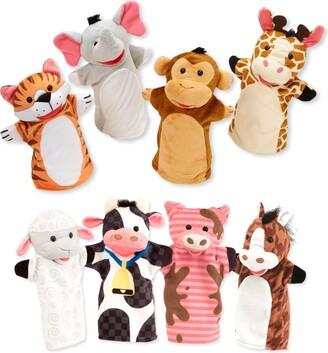 Melissa & Doug Farm Friends 8-Piece Hand Puppet Set