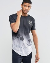SikSilk Floral T-Shirt With Curved Hem