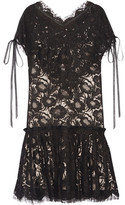 Wes Gordon Beatrix Corded Cotton-Blend Lace Mini Dress