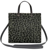 Clare Vivier Small Petit Simple Leopard Print Genuine Calf Hair Tote - Green