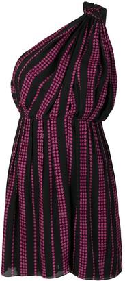 Saint Laurent Star Print Asymmetric Dress