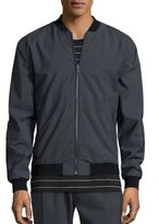 Vince Worsted Wool Reversible Bomber Jacket