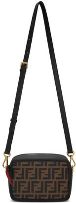 Fendi Brown and Black Mini Forever Camera Bag