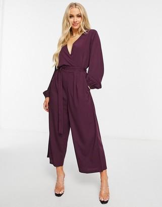 AX Paris knot jumpsuit in plum