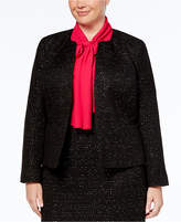 Nine West Plus Size Sequined Tweed Blazer