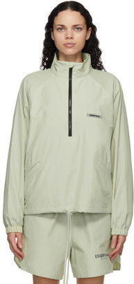 Essentials Green Nylon Track Jacket