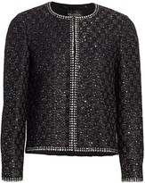 St. John Sequin Basket Weave Evening Jacket