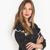 La Redoute Collections Ruffled Polka Dot Shift Dress