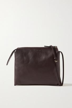 The Row Nu Twin Mini Leather Shoulder Bag - Merlot
