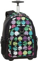 PBteen Gear-Up Navy Dot-to-Dot Rolling Backpack