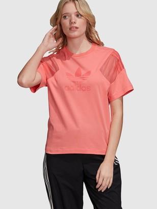 adidas Bellista Short Sleeve T-Shirt - Pink