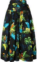 Marc Jacobs parrots print pleated skirt - women - Cotton/Spandex/Elastane - 2
