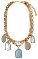 Louise et Cie Stone Charm Necklace