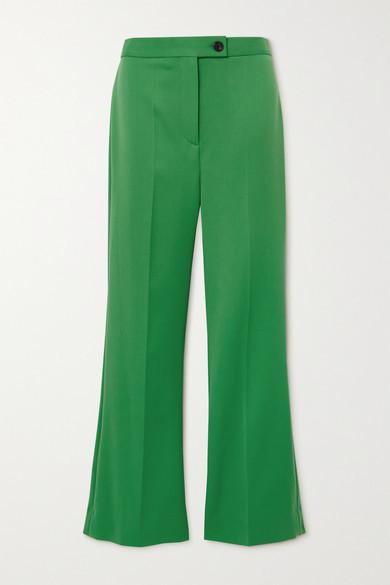 Victoria Victoria Beckham Twill Flared Pants - Green