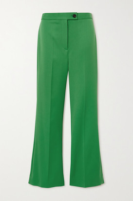 Victoria Victoria Beckham Twill Flared Pants - Green