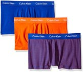 Calvin Klein Men's 3-Pack Cotton Stretch Low Rise Trunk, White, Small