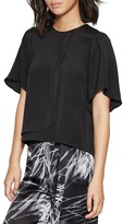Halston Draped-Detail Top