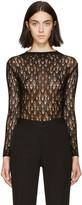Maison Margiela Black Open-knit Body Suit