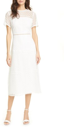 Ted Baker Yanahli Short Sleeve Lace Midi Dress