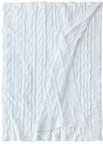 Eastern Accents Avalon Cable-Knit Cotton Throw - Ivory - EASTERN ACCENTS