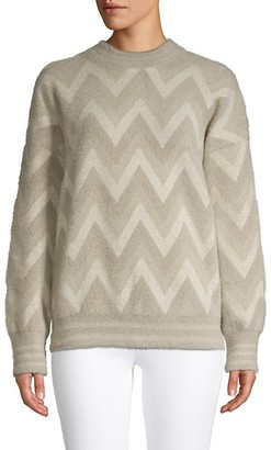 Allison New York Chevron Long-Sleeve Sweater