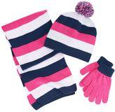 Berkshire Girls 4-16 3-pc. Striped Scarf, Hat & Gloves Set
