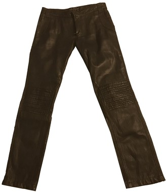 Zadig & Voltaire Black Leather Trousers