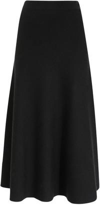 Gabriela Hearst Flared Wool Blend Knit Midi Skirt