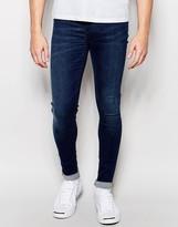 Blend of America Flurry Extreme Super Skinny Jeans in Dark Blue