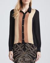 Haute Hippie Long-Sleeve Silk Blouse