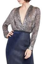 Elie Tahari Shelly Metallic Bodysuit