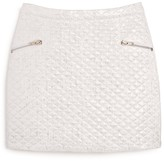 Aqua Girls' Metallic Quilted Mini Skirt - Sizes S-XL - 100% Exclusive