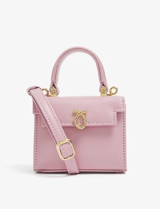 Launer Picollo mini leather top handle bag