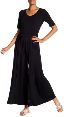 WEST KEI Elbow Sleeve Wide Leg Jumpsuit