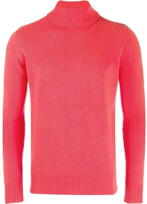 Majestic Filatures Ribbed Knit Roll-Neck Jumper