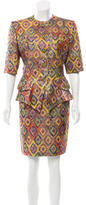 Christian Lacroix Brocade Patterned Skirt Set